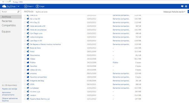 Nuevas funciones en SkyDrive