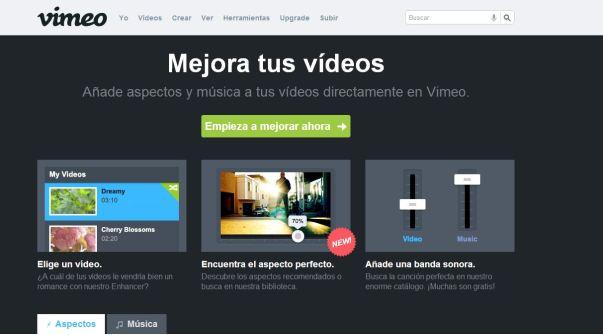 Vimeo agrega la opción de filtros y música para tus videos