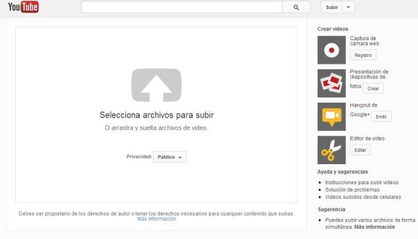Youtube te permite crear Slideshow y convertir archivos de audio