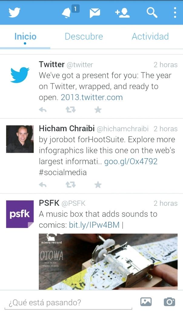 Twitter actualiza su app para IOS y Android